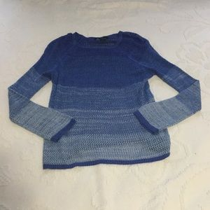 Kenneth Cole blue ombré sweater size small